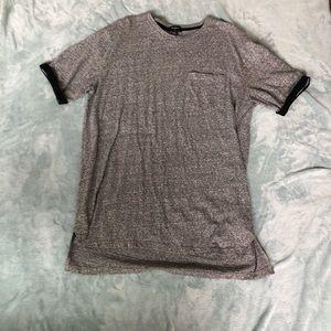 long gray t-shirt